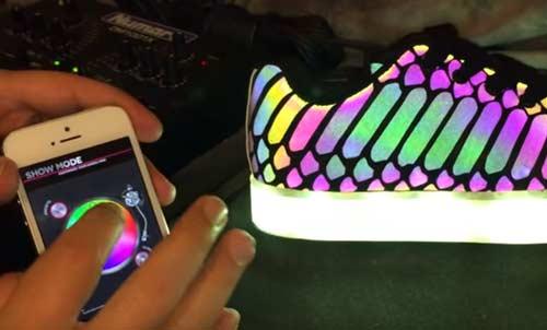LED Schuh mit App