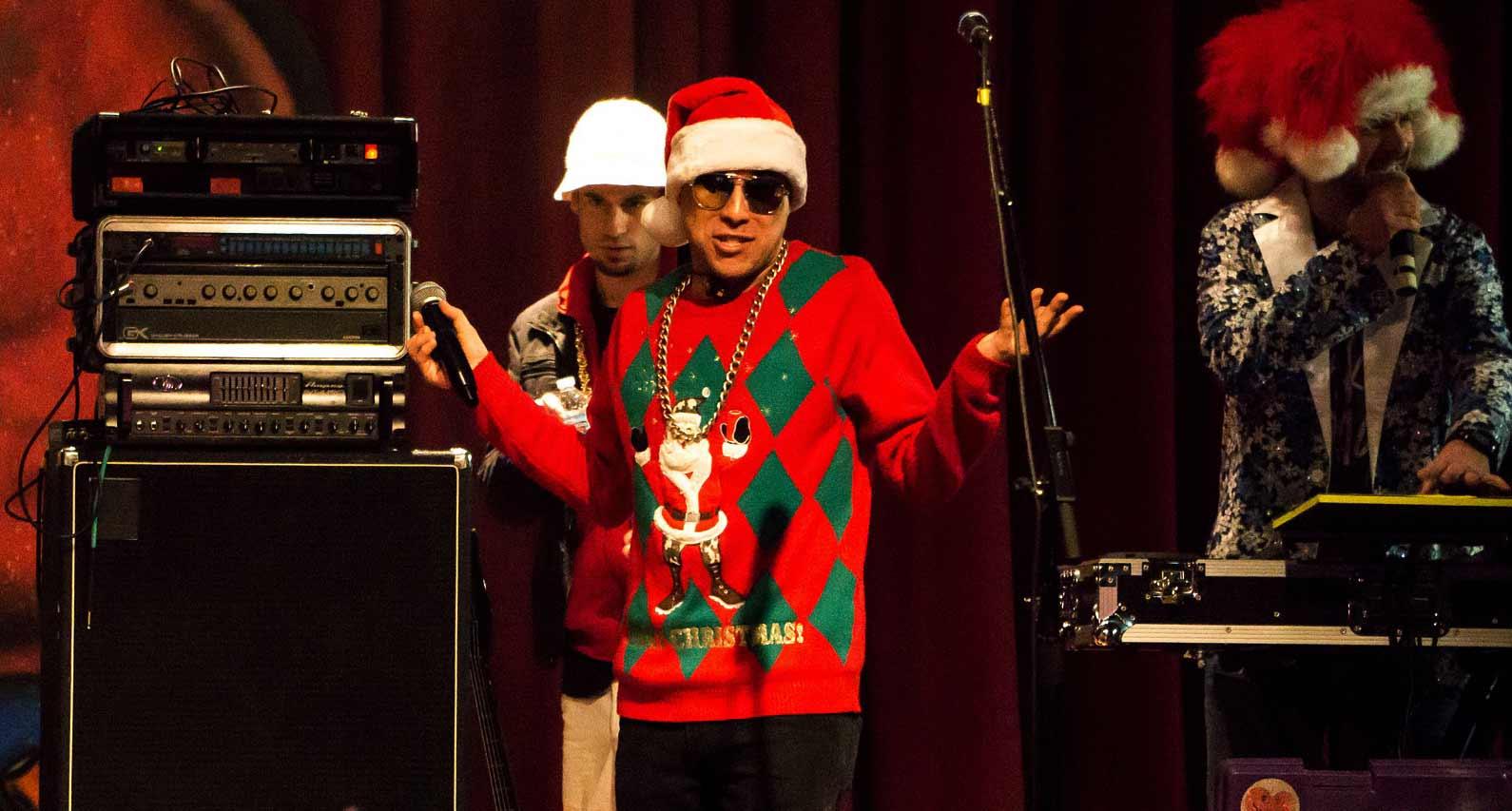 weihnachtspullover party